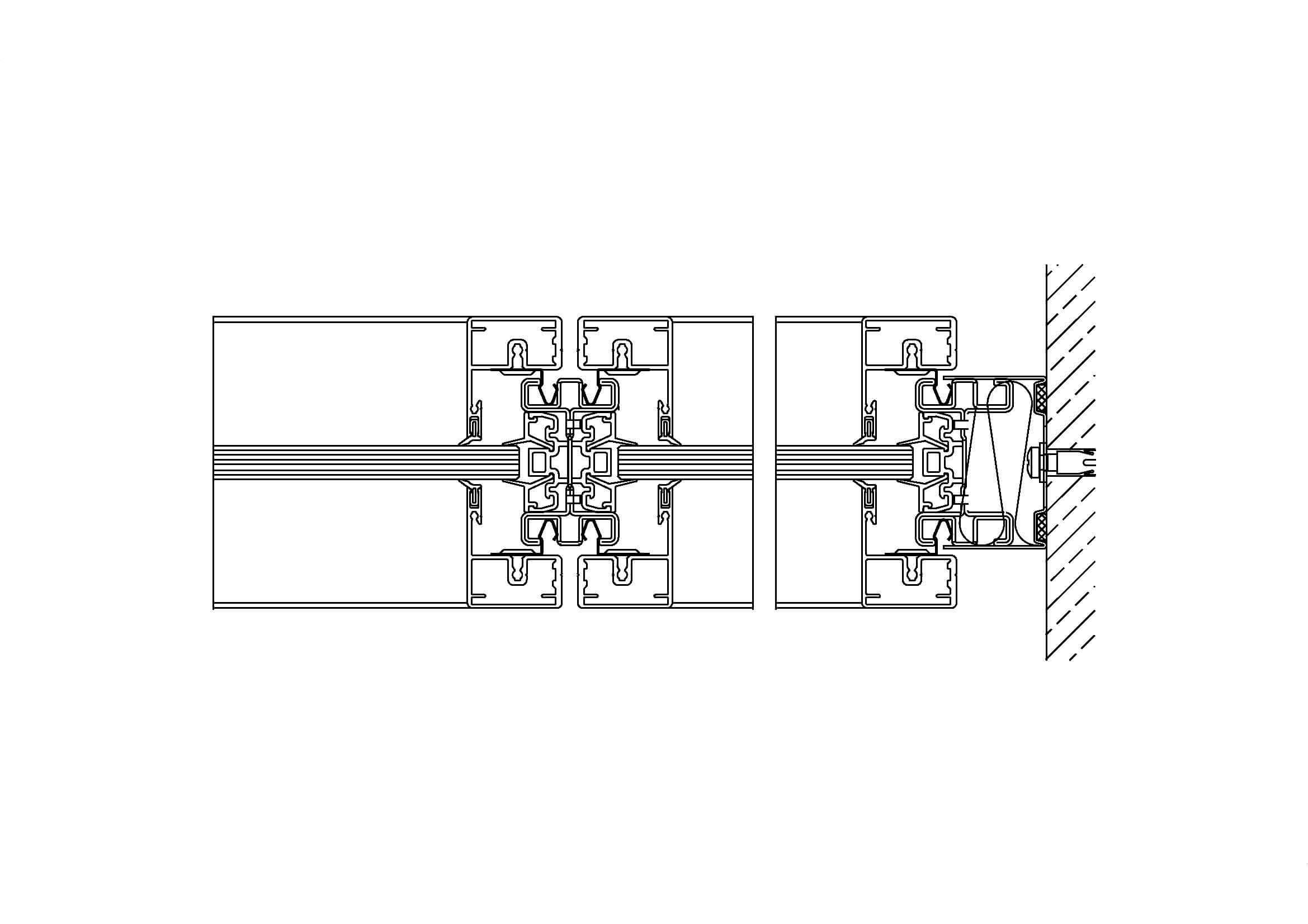 System 500 – Mittelverglasung